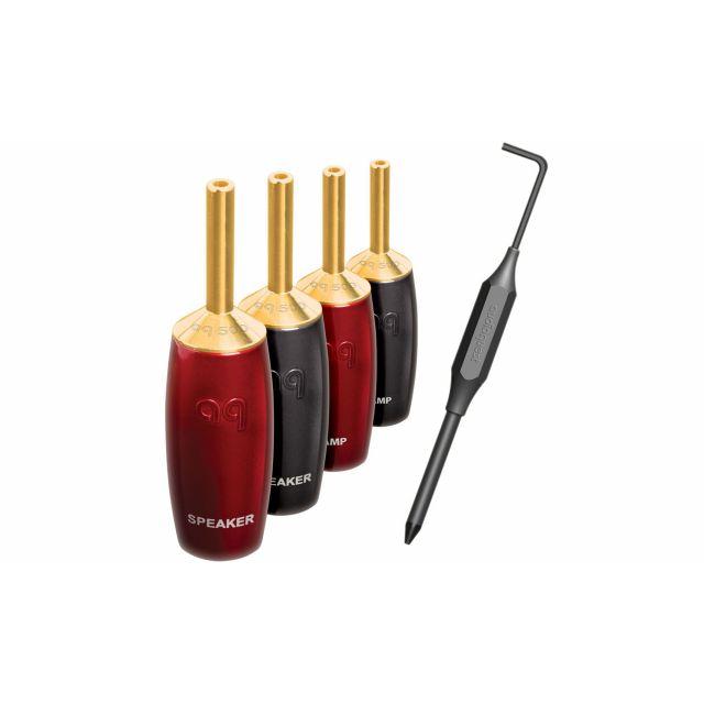 AudioQuest SureGrip 500 Banana Plugs (Gold)
