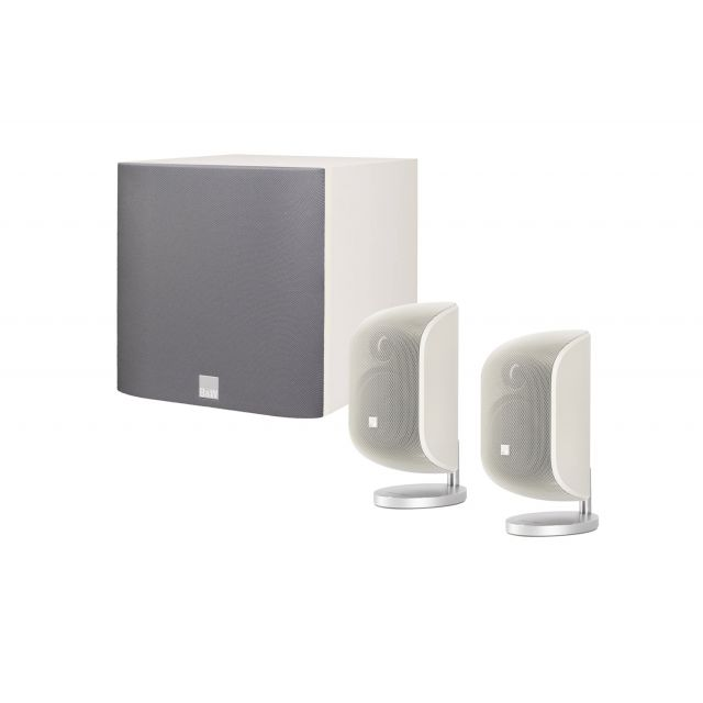 B&W MT-20 White 2.1 Speaker System - Front view.