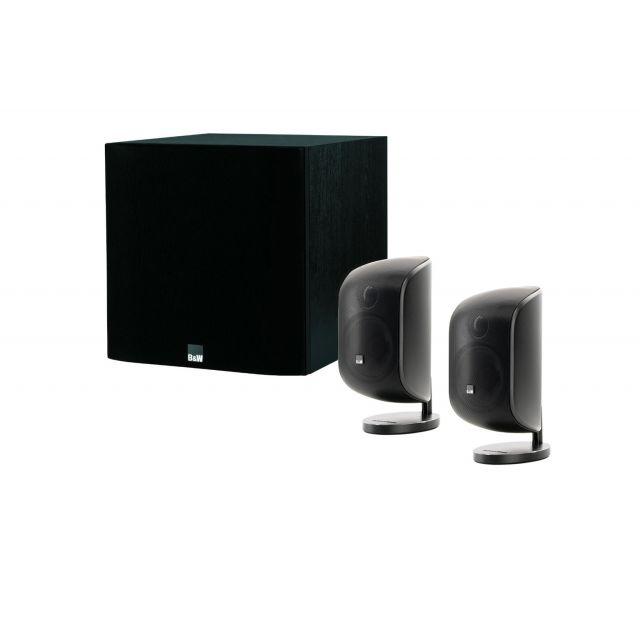 B&W MT-25 Black 2.1 Speaker System - Front view.