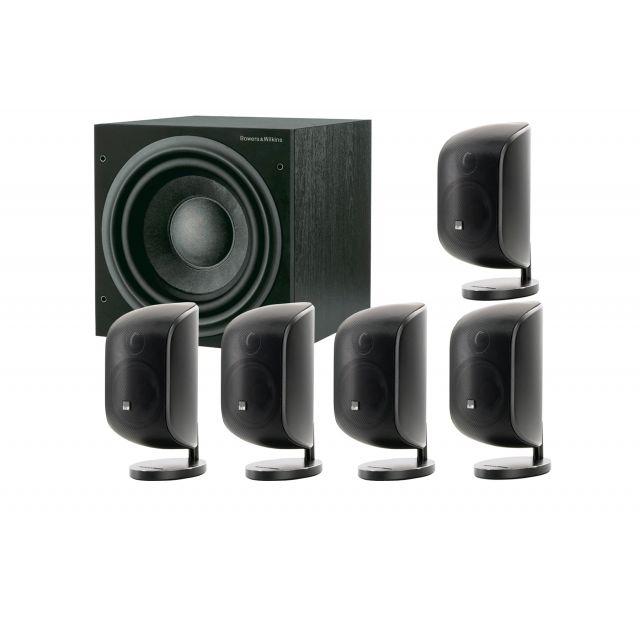 B&W MT-55 White 5.1 Speaker System - Front view.