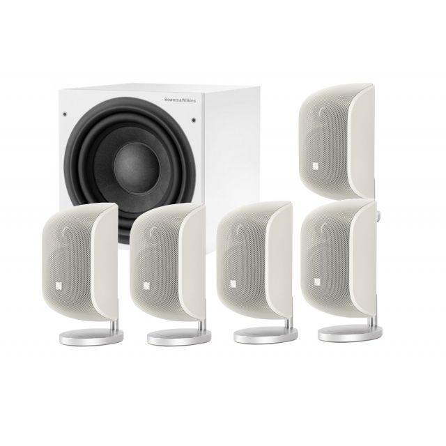 B&W MT55 White 5.1 Speaker System - Front view.