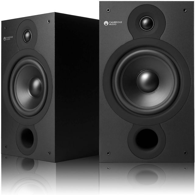Cambridge Audio SX60 Speakers - With magnetic grille covers removed