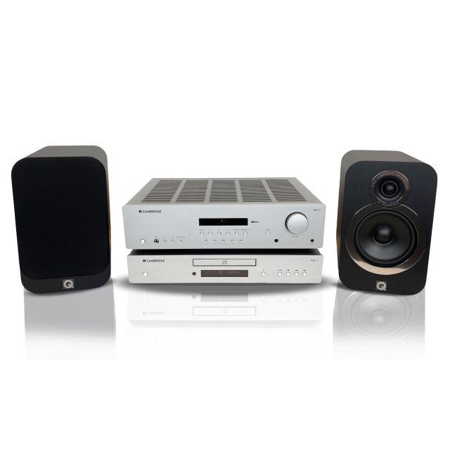 Cambridge Receiver, CD player and Q Acoustics 3020i Speakers