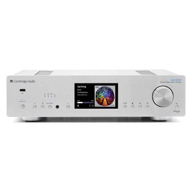 Cambridge Audio 851N Network Music Player/DAC/Digital Preamp - Front view.