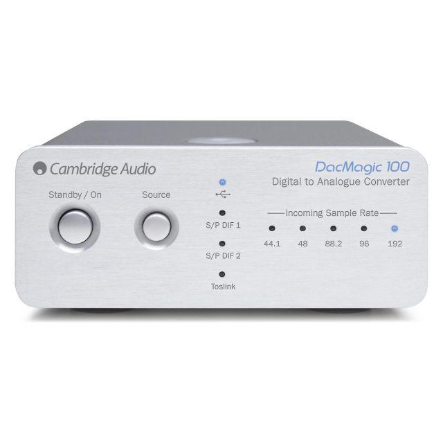Cambridge Audio DacMagic 100 DAC - Front view.
