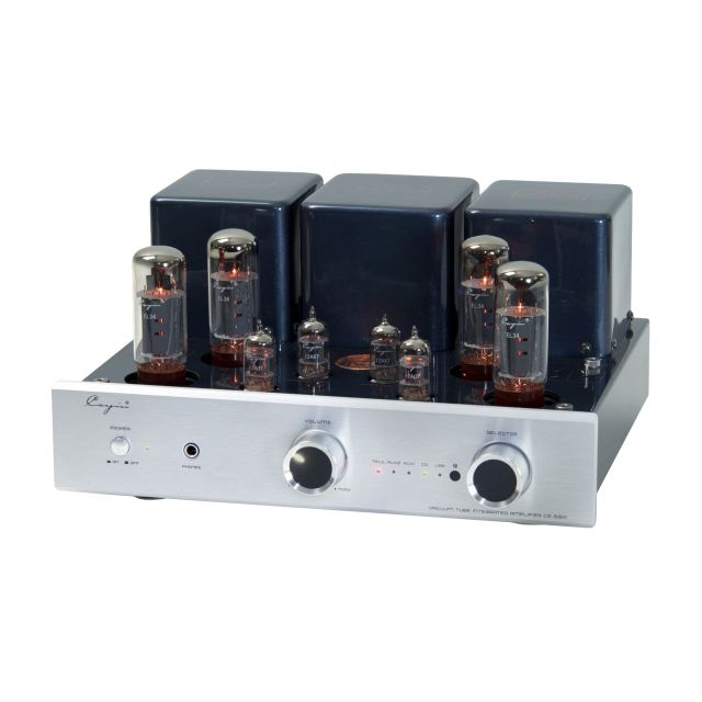 Cayin CS-55A Valve Integrated Amplifier - Front angle view