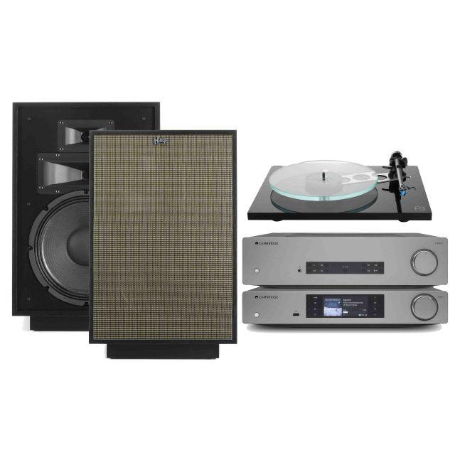 Cambridge CXA81/CXN, Rega Planar 3, Klipsch Heresy IV Speaker System