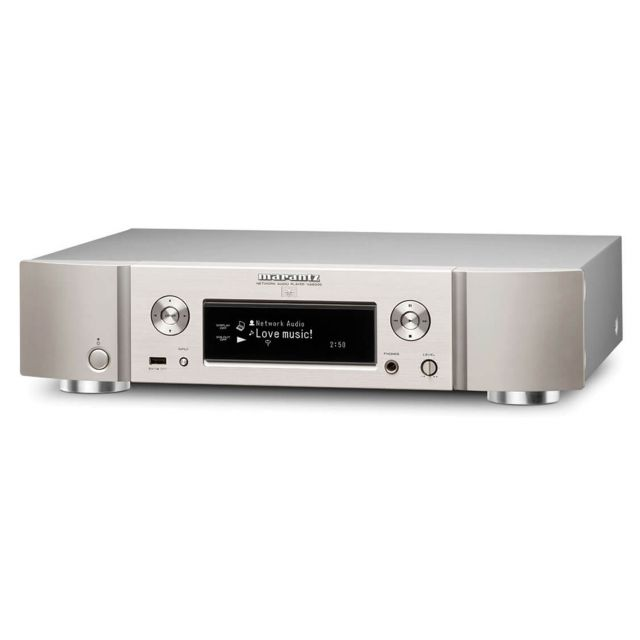 Marantz NA8005 Network Music Player In Silver/Gold - Angle view.