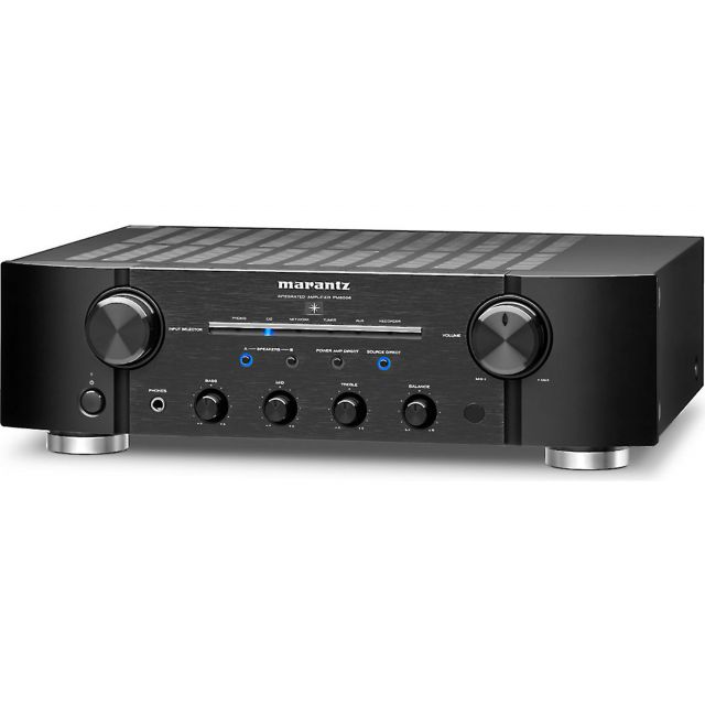 Marantz PM8006 Stereo Integrated Amplifier - Front angle view.