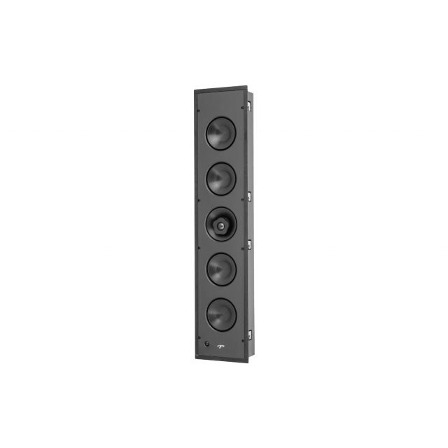 Paradigm CI Elite E5-LCR In-Wall Speaker - Front angle view (shown with grille off)