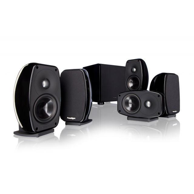 Paradigm Cinema 100CT 5.1 Speaker System - Front view.