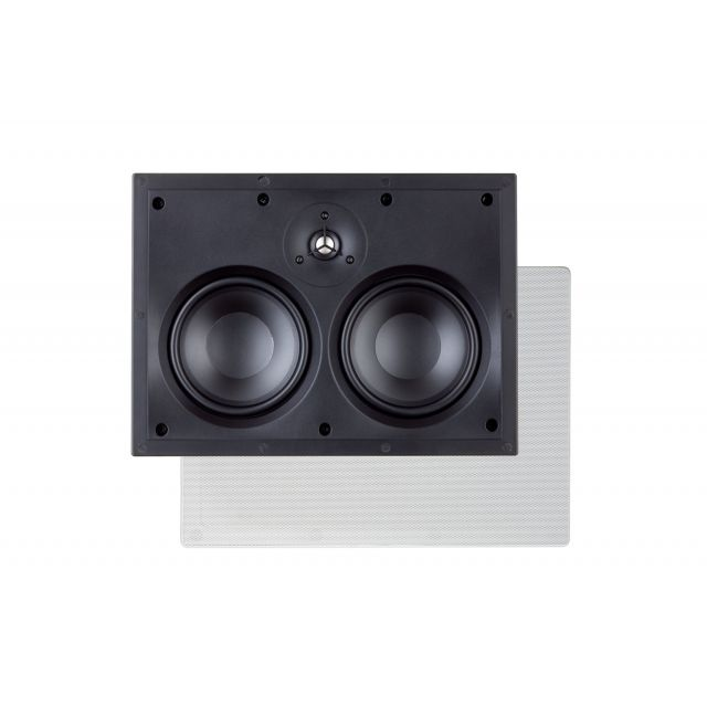Paradigm H55-LCR In-Wall Speakers - Front view with square grille.