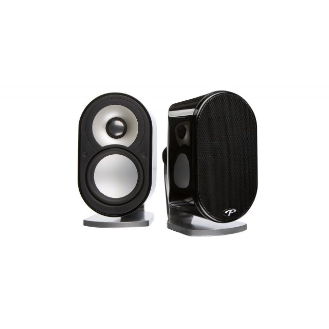 Paradigm MilleniaOne 2.0 On Wall / Shelf Satellite Speakers - Front view.