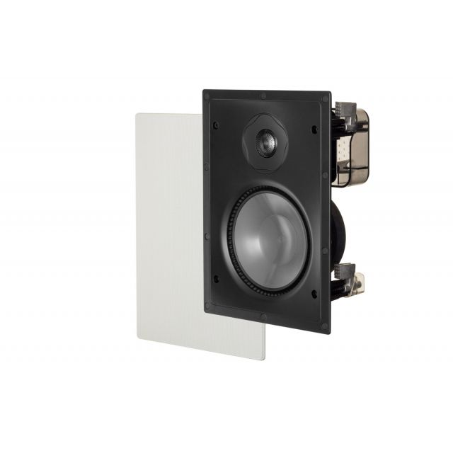 Paradigm P65-IW In-Wall Speakers - Angle view with grille.