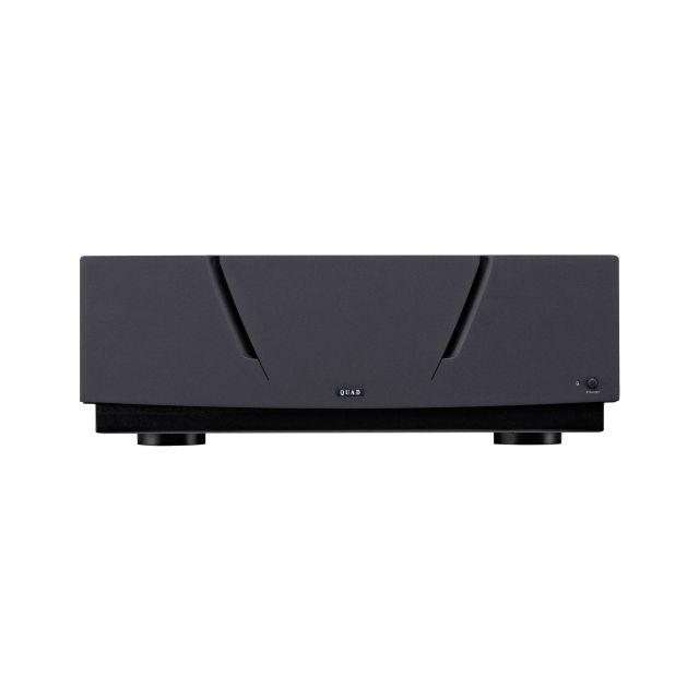 Quad Platinum Stereo Mono Power Amplifier - Front view.