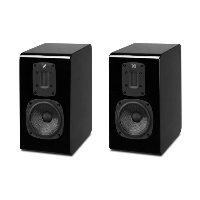 Quad S-1 Standmount/Bookshelf Speakers - Displayed without their magnetic cloth grilles