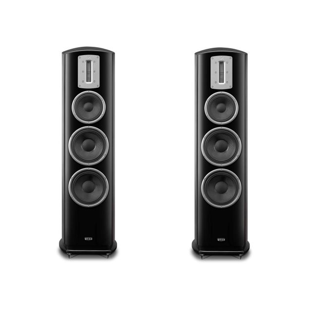 Quad Z3 Floorstanding Speakers - Displayed without front grilles. Yes, they are included.