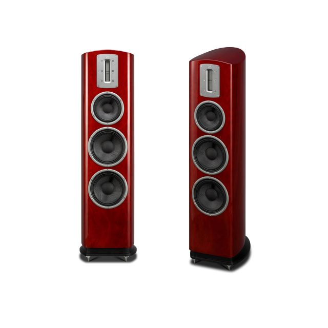 Quad Z3 Floorstanding Speakers - Displayed without grilles.
