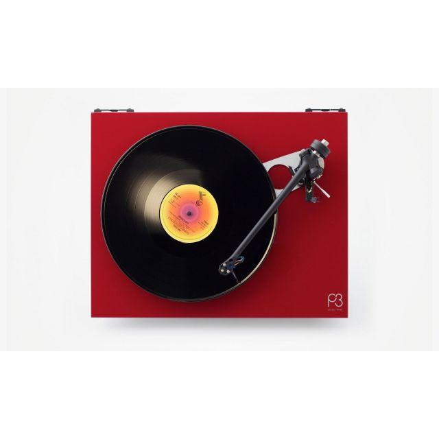 Rega Planar 3 Turntable Gloss Red with Rega Exact MM Cartridge