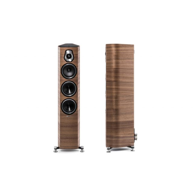 Sonus faber Sonetto III Floor Standing Speakers - Front and side view