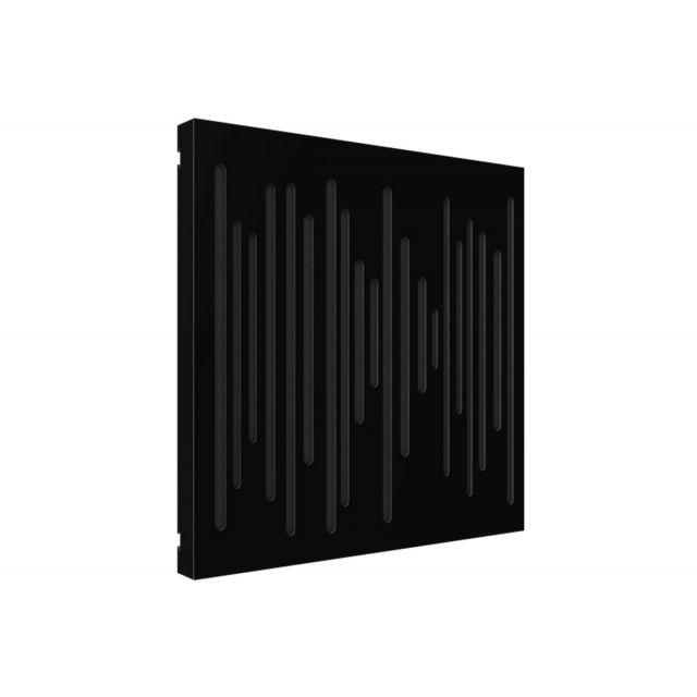 Vicoustic VicPattern Wavewood Ultra Acoustic Panel - Black Matte
