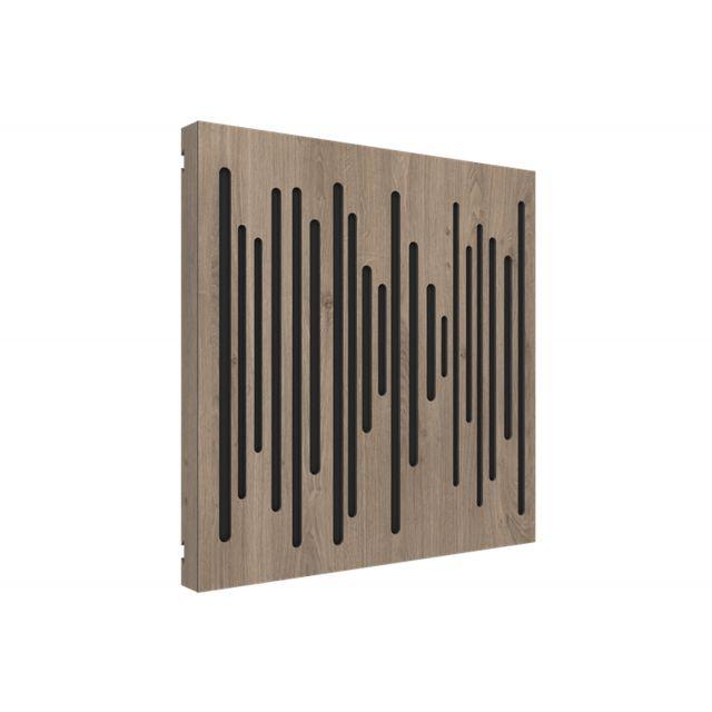 Vicoustic VicPattern Wavewood Ultra Acoustic Panel - Brown Oak