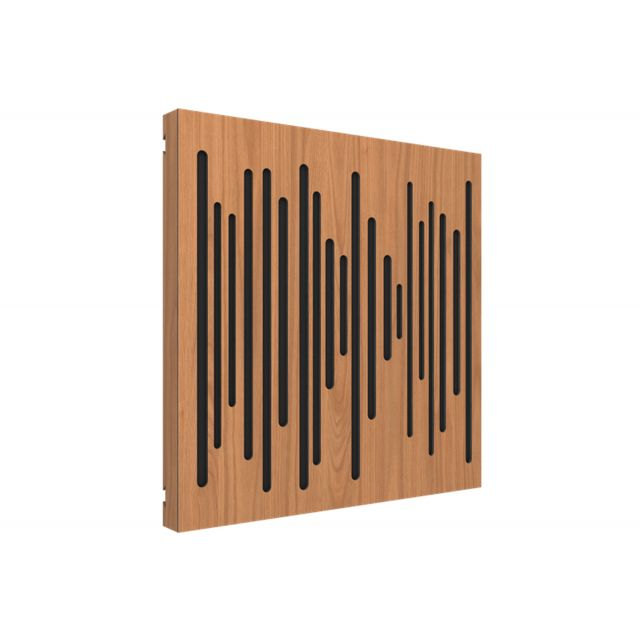 Vicoustic VicPattern Wavewood Ultra Acoustic Panel - Locarno Cherry