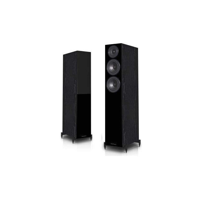 Wharfedale Diamond 12.3 Speakers In Black - Front view
