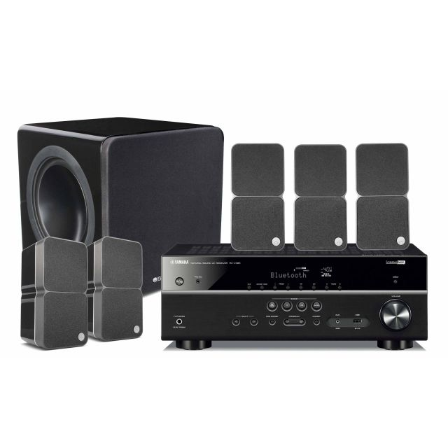Yamaha and Cambridge 325 5.1 Surround Sound System - Black speakers