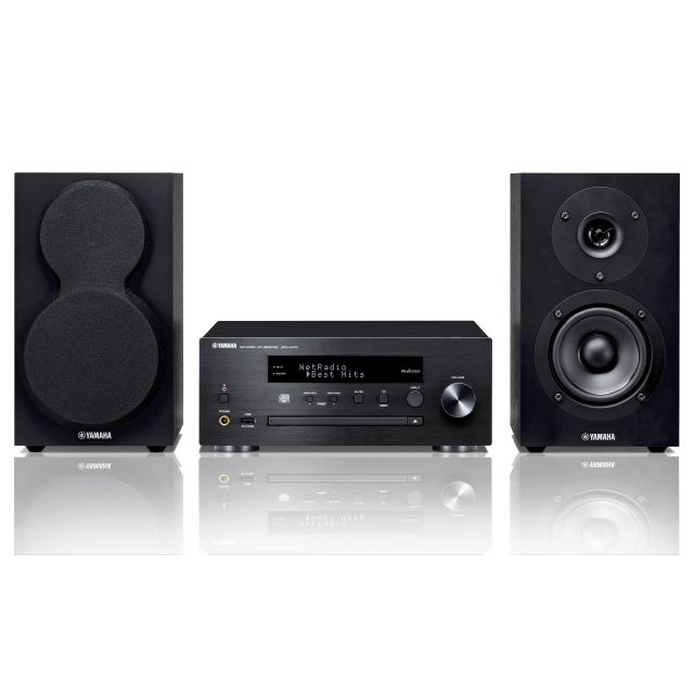 Yamaha MCR-N470 Compact Music System - Front view.