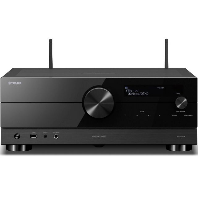 Yamaha Aventage RX-A2A Home Theatre Receiver - Shown with Wi-Fi and Bluetooth antennas extended