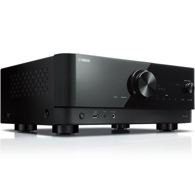 Yamaha RX-V4A 8K Home Theatre Receiver - Front angle