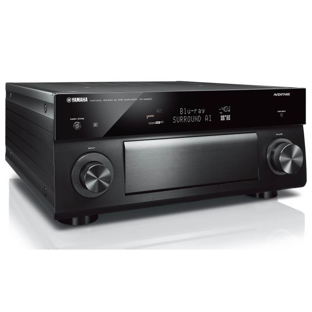 Yamaha CX-A5200 Preamp/Processor - Front angle view.